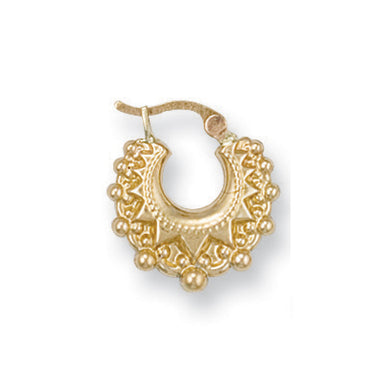 9ct Yellow Gold Fancy Creoles - Queen of Silver