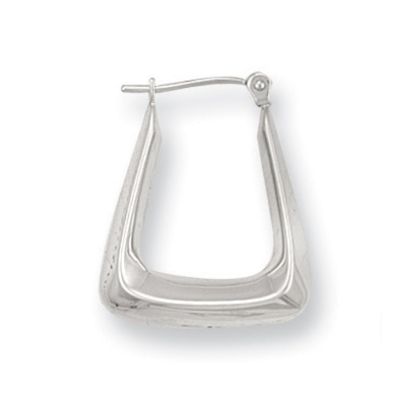 9ct White Gold Handbag Hoop Earrings - Queen of Silver