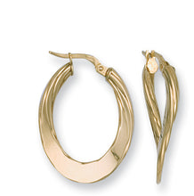 9ct Yellow Gold Y/G Fancy Twisted Earrings - Queen of Silver