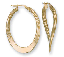 9ct Yellow Gold Fancy Twisted Earrings - Queen of Silver