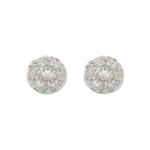 9ct Yellow Gold Cz Stud Earrings - Queen of Silver