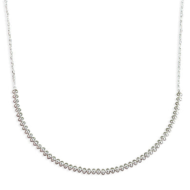 Sterling Silver Oval 42cm Beads On Chain Necklace