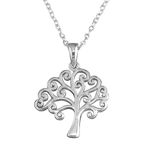 Sterling Silver Tree 45cm Of Life Necklace