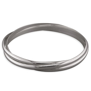 Sterling Silver Heavy Triple Tussian Bangle