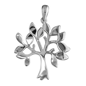 Sterling Silver Flat Plain Tree Of Life Pendant