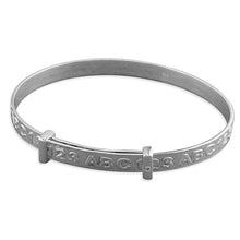 Sterling Silver Child's ABC/123 Expanding Bangle