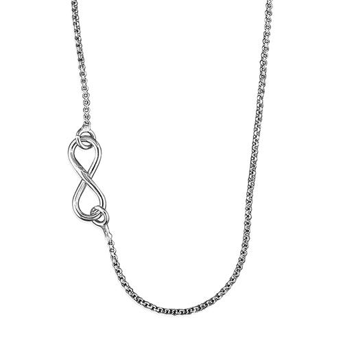 Sterling Silver Side Infinity Necklace