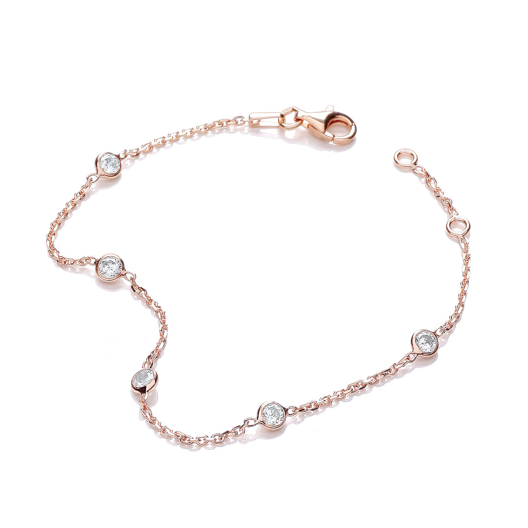 J-Jaz Sterling Silver & Rose Gold Plated 7