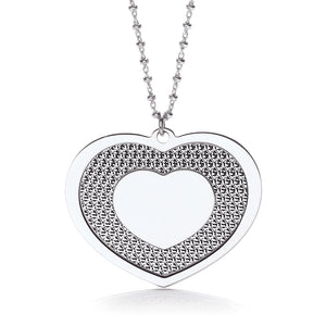 "J-Jaz Sterling Silver Big Polished Heart 18"" Necklace - Queen of Silver"