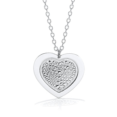 J-Jaz Sterling Silver Fancy Heart Disc 18