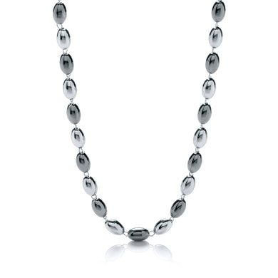 J-Jaz Sterling Silver & Ruthenium Oval Bead 36