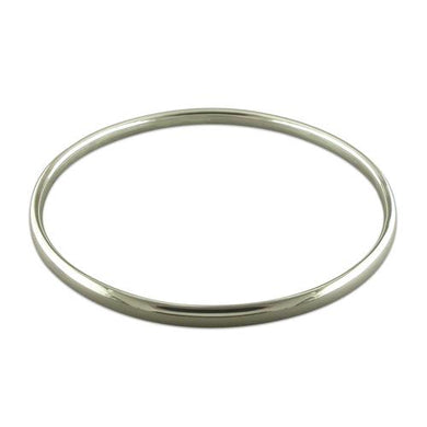 Sterling Silver Plain Hollow Slave Bangle