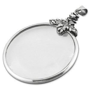 Sterling Silver Large Plain Magnifying Glass Gifts