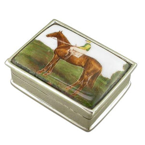 Sterling Silver Picture Box, Jockey On Horse Back Gifts