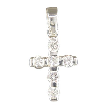 Sterling Silver Small Cubic Zirconia Cross