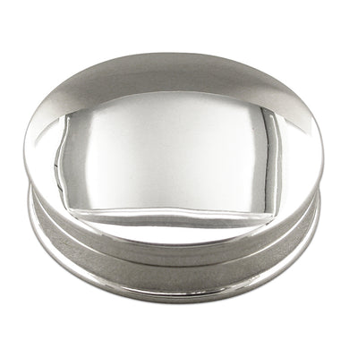 Sterling Silver Plain Round Pill Box Gifts