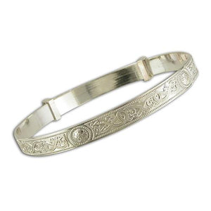 Sterling Silver Babies Celtic Expanding Bangle