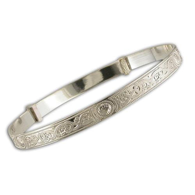 Sterling Silver Maids Celtic Expanding Bangle