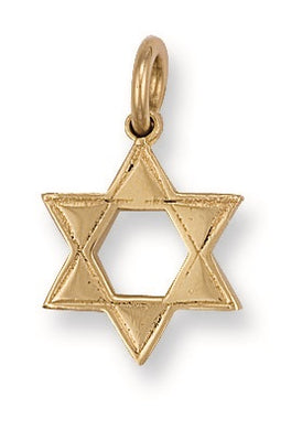 9ct Yellow Gold Star of David Pendant - Queen of Silver
