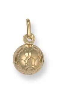 9ct Yellow Gold Football Pendant - Queen of Silver
