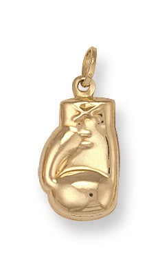 9ct Yellow Gold Boxing Glove Pendant - Queen of Silver