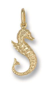 9ct Yellow Gold Seahorse Pendant - Queen of Silver