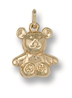 9ct Yellow Gold Teddy Pendant - Queen of Silver