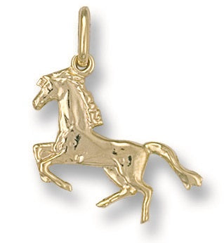 9ct Yellow Gold Horse Pendant - Queen of Silver
