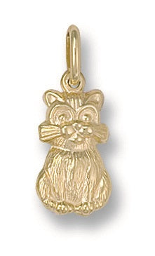9ct Yellow Gold Cat Pendant - Queen of Silver