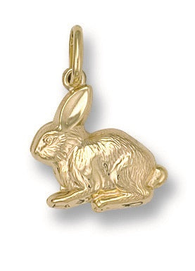 9ct Yellow Gold Rabbit Pendant - Queen of Silver