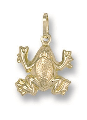 9ct Yellow Gold  Frog Pendant - Queen of Silver