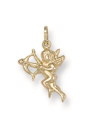 9ct Yellow Gold Cupid Pendant - Queen of Silver
