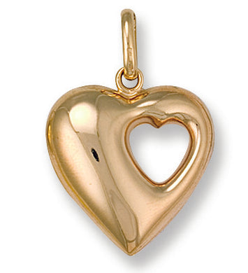 9ct Yellow Gold Heart Pendant - Queen of Silver
