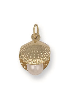9ct Yellow Gold Oyster & Shell Pendant - Queen of Silver