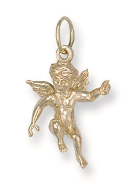 9ct Yellow Gold Angel Pendant - Queen of Silver