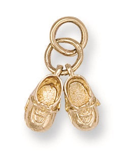 9ct Yellow Gold Baby Shoe Pendant - Queen of Silver