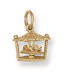 9ct Yellow Gold Carousel Pendant - Queen of Silver