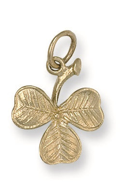 9ct Yellow Gold 3 Leaf Clover Pendant - Queen of Silver