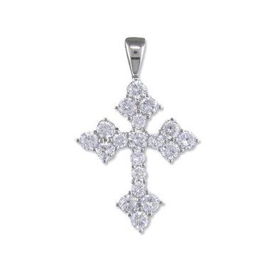 Sterling Silver Fancy Cubic Zirconia Cross