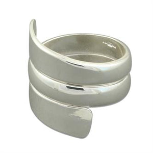 Sterling Silver Broad Spiral Taper Ring