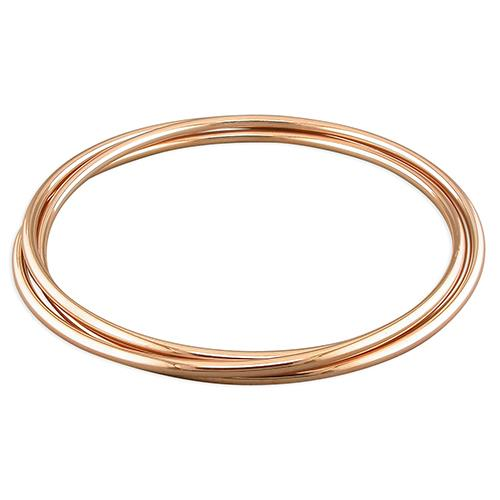 Sterling Silver Rose Gold-Plated Russian Slave Bangle