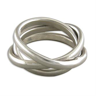 Sterling Silver Interwoven Russian Bands Ring
