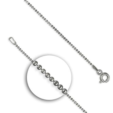 Sterling Silver Fine Diamond-Cut Beads Chain