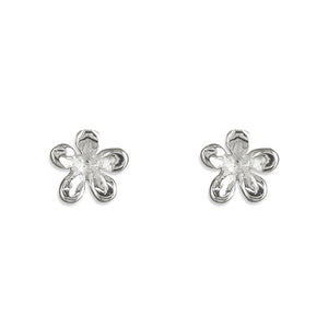 Sterling Silver Small Five-Petal Flower Stud Earring