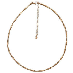Sterling Silver Rose Gold-Plated 42-47cm 3mm Twisted Wire-Wrap Necklace