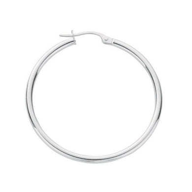 Sterling Silver Round Plain 1.5mm Tube Hoops - Queen of Silver