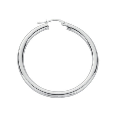 Sterling Silver Round Plain 2.5mm Tube Hoops - Queen of Silver