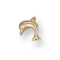 9ct Yellow Gold Dolphin Nose Stud Earrings - Queen of Silver