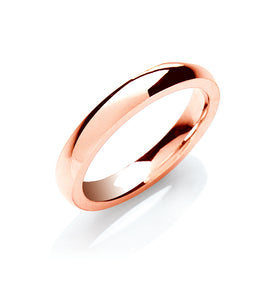 3mm Court Shape Wedding Band - Made to Order - Queen of Silver