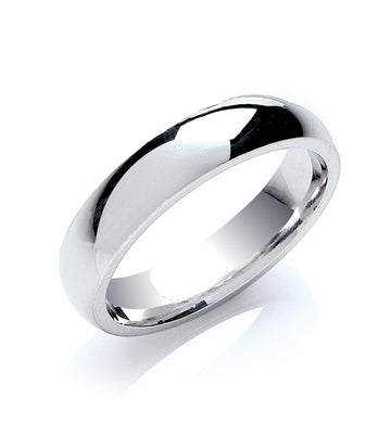 5mm Court Shape Wedding Band - Made to Order - Queen of Silver